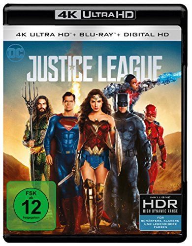The Justice League 4K Blu-ray (UHD + Blu-ray Disc)
