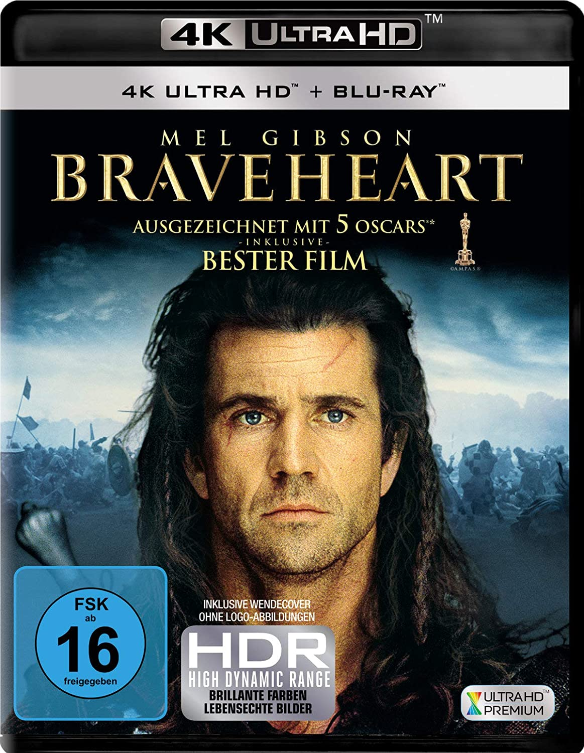 Braveheart - Ultra HD Blu-ray [4k + Blu-ray Disc]