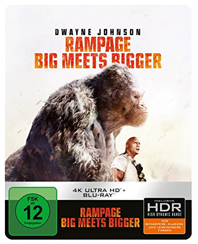 Rampage: Big Meets Bigger (Steelbook) - Ultra HD Blu-ray [4k + Blu-ray Disc]