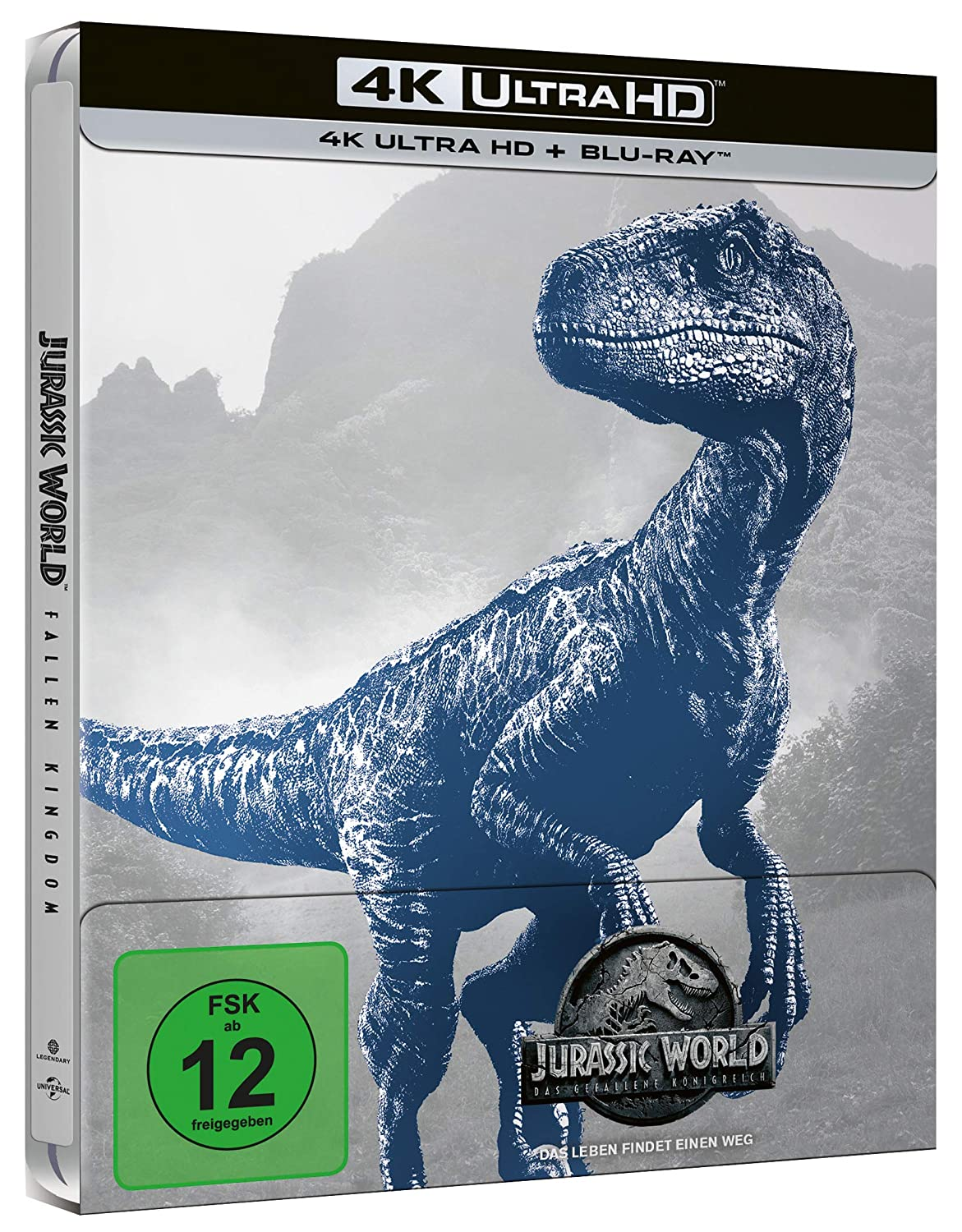 Jurassic World: Das gefallene Königreich (Amazon exklusives Steelbook) - Ultra HD Blu-ray [4k + Blu-ray Disc]