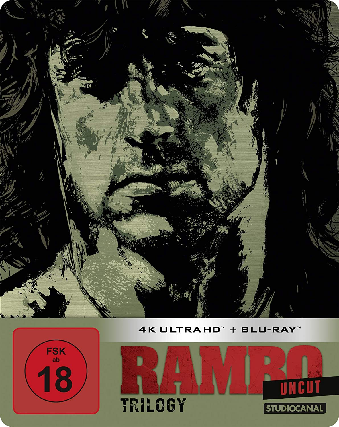 Rambo Trilogie (Steelbook) - 4K Ultra HD [UHD + Blu-ray Disc]