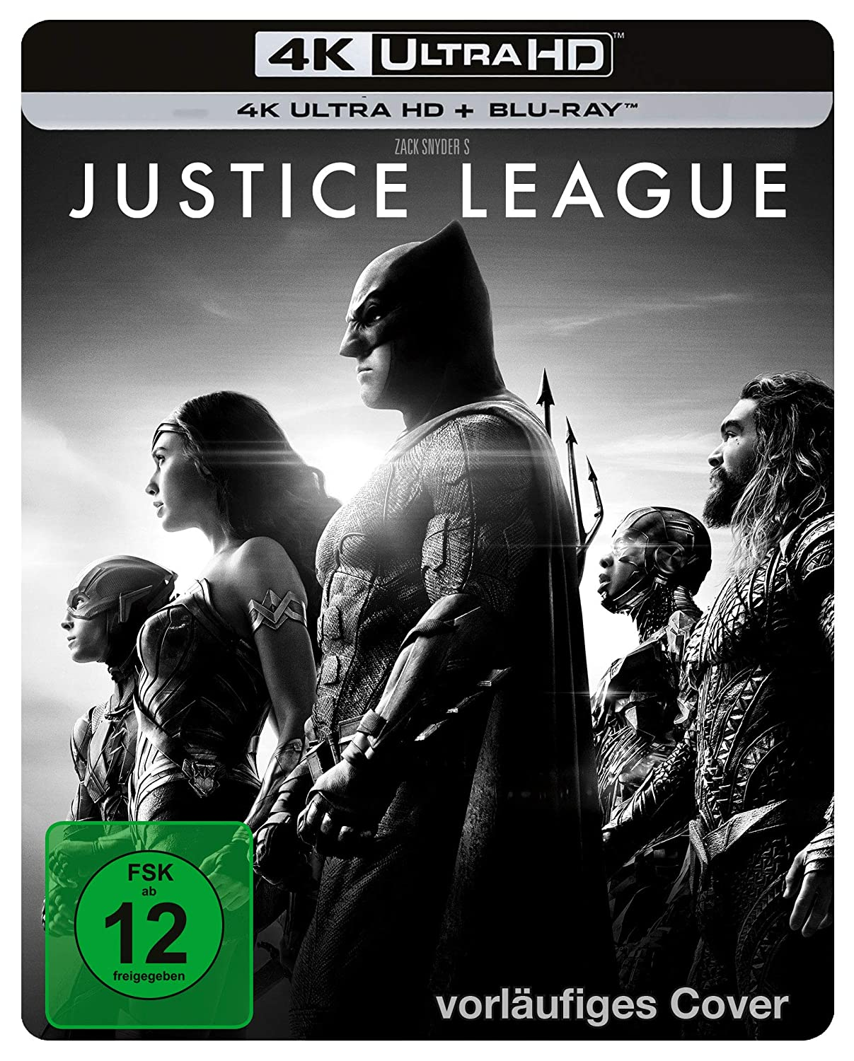 The Justice League (Snyder Cut) 4K Steelbook (UHD + Blu-ray Disc)