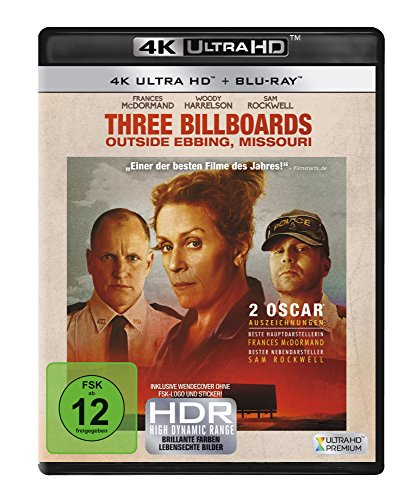 Three Billboards Outside Ebbing, Missouri (4K Ultra HD) [Blu-ray]