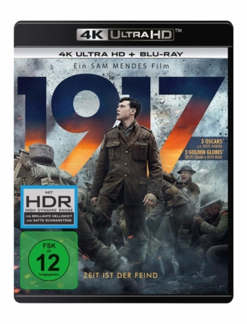 1917 - 4K UHD Blu-ray Disc Cover mit George MacKay als Lance Corporal Schofield
