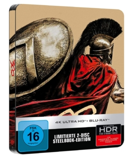 300 im 4K Limited Steelbook mit Graphic Novel Zeichnung