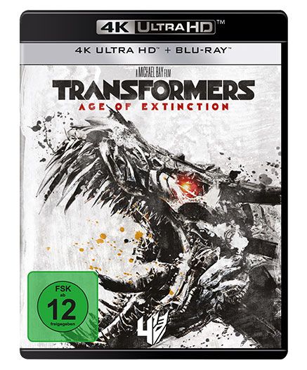 4K-Cover zu Age of Extinction (Film 4) (4K Ultra HD + Blu-ray Disc) mit T-Rex