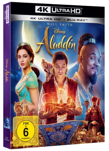 Aladdin 4k UHD Blu-ray Cover mit Pappschuber
