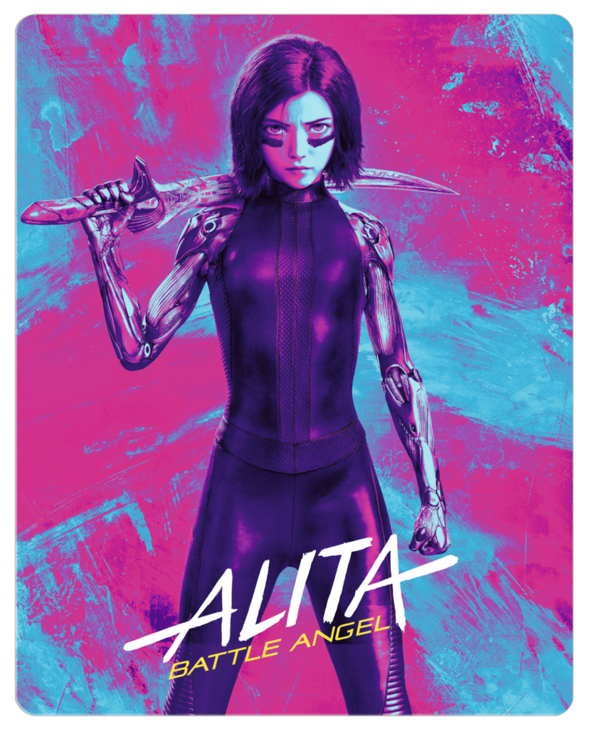 Alita: Battle Angel - 4K UHD Steelbook + 3D + Blu-ray Disc Cover