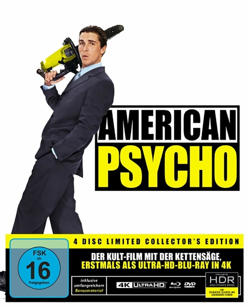 American Psycho Special Edition (4K UHD Blu-ray Set mit DVDs, CD und Blu-ray Disc)