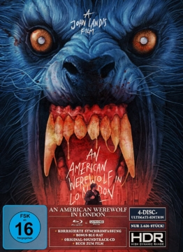 An American Werewolf in London 4K UHD Ultimate Edition mit CD und UHD Blu-ray Disc ung High Dynamic Range (Frontcover des Digipacks mit Schuber)
