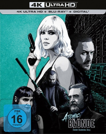 4K UHD Cover zum Atomic Blonde Ultra HD Steelbook mit Schuber
