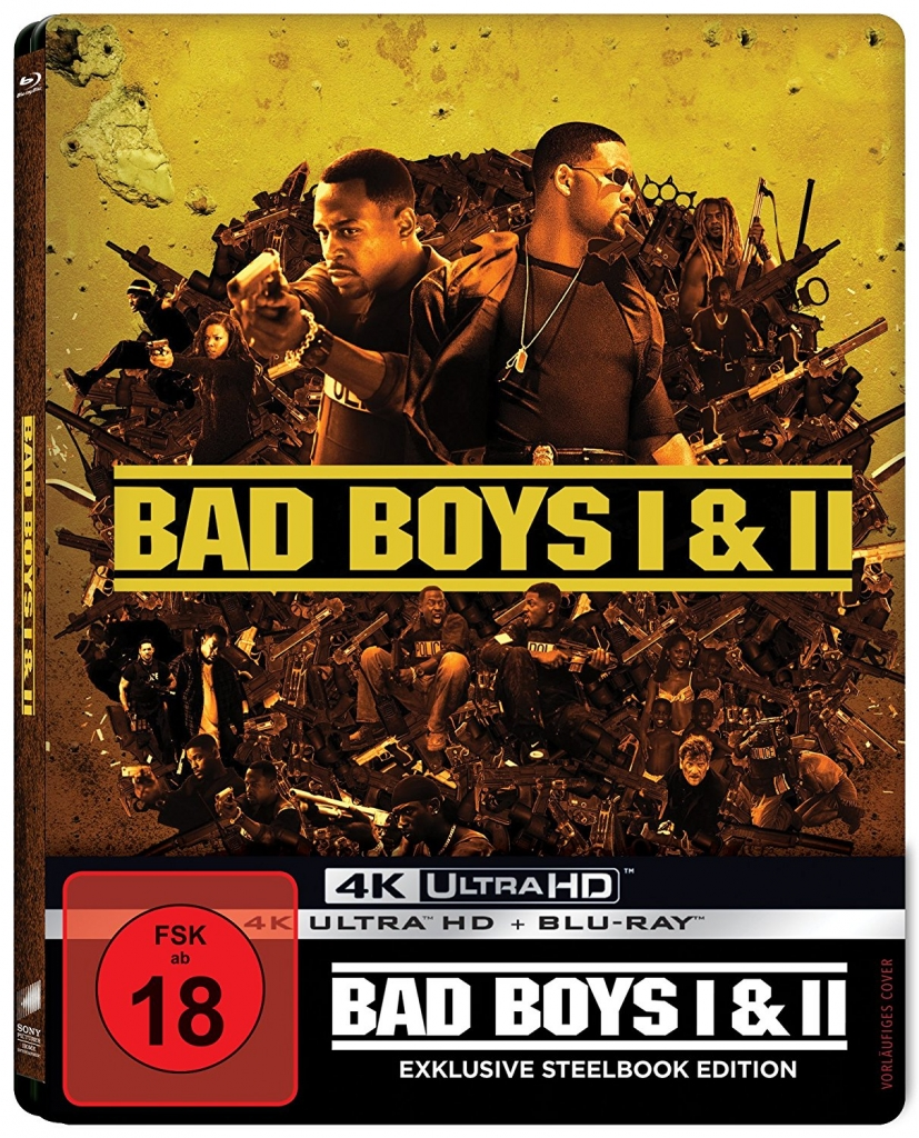 4K-Steelbook zu Bad Boys und Bad Boys 2