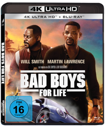 Bad Boys for Life - 4K UHD Blu-ray Cover mit Martin Lawrence und Will Smith