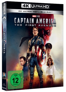 Pappschuber Cover zu Captain America - The First Avenger 4K