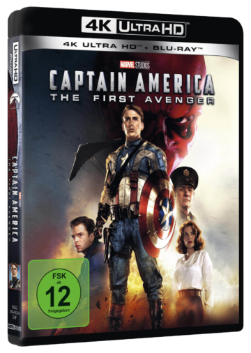 Seitenansicht vom Captain America - The First Avenger 4K Cover