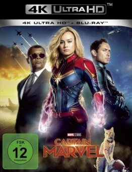 Captain Marvel im schwarzen 4K Ultra HD Keep Case