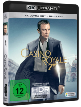 Erster James Bond 007 mit Daniel Craig (Casino Royale 4K UHD Blu-ray Cover)