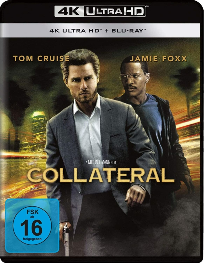 Collateral 4K UHD Blu-ray Cover mit Tom Cruise und Jamie Foxx