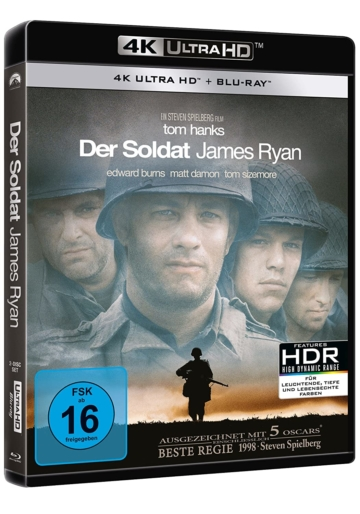 Der Soldat James Ryan 4K UHD Blu-ray Disc mit Dolby Vision (Tom Hanks, Matt Damon)