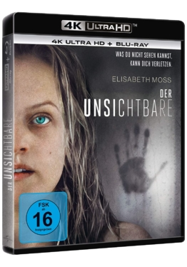Der Unsichtbare (Film) - The Invisible Man 4K UHD Blu-ray Cover mit Elisabeth Moss