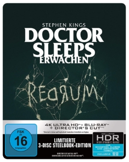Stephen Kings Doctor Sleeps Erwachen 4K UHD Blu-ray Disc Steelbook mit Schuber als 3-Disc-Set und Limited Edition (Frontansicht)