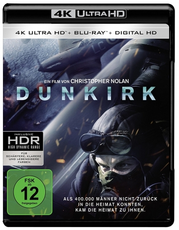 Dunkirk - 4K UltraHD BLURAY Cover