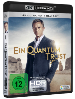James Bond 007 - Ein Quantum Trost 4K Cover UHD Blu-ray Cover