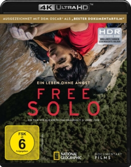 Free Solo Cover mit HDR Frontlogo am UHD Keep Case