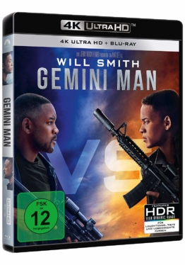 Gemini Man mit Will Smith auf dem 4K UHD Blu-ray Cover