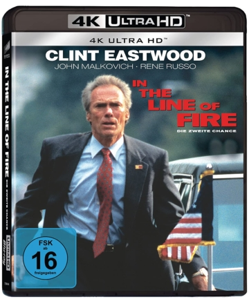 In The Line Of Fire 4K Blu-ray Disc mit Clint Eastwood