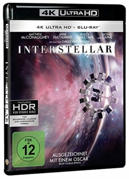 4K UHD Blu-ray Cover zu Christopher Nolans Interstellar