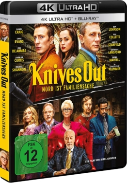 Knives Out 4K UHD Blu-ray Cover mit Daniel Craig