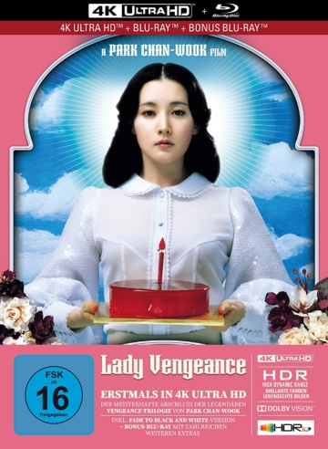 Lady Vengeance 4K Blu-ray (3 Disc Limited Mediabook mit Bonus Blu-ray Disc) (inklusive Fade to Black and White Edition)