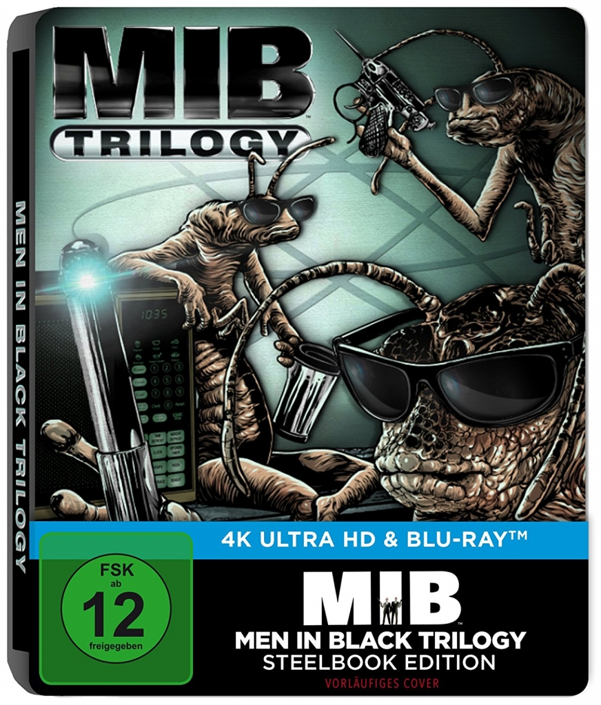 Men in Black 4K Trilogie Steelbook