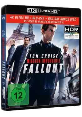 Mission: Impossible 6 - Fallout (4K UHD Blu-ray Disc Cover)
