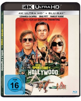 Once Upon A Time In Hollywood Frontcover der 4K Ultra HD Blu-ray Disc