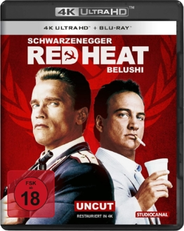 Red Heat 4K UHD Keep Case Cover mit James Belushi und Arnold Schwarzenegger