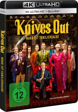 Knives Out - 4K UHD Blu-ray Cover mit Daniel Craig
