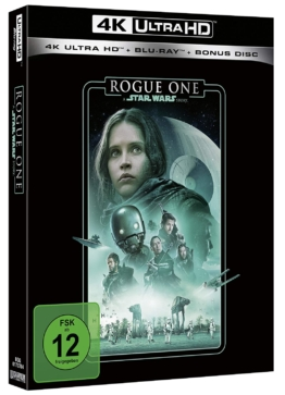 Rogue One - A Star Wars Story (4K UHD Blu-ray) (Line Look Edition) Cover mit Felicity Jones und Diego Luna