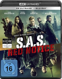 S.A.S Red Notice 4K UHD Blu-ray Disc