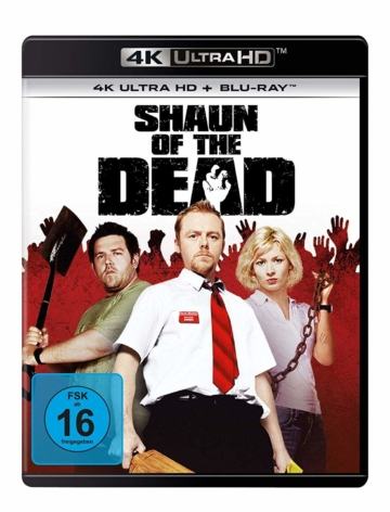 Coverabbildung zu Shaun of the Dead 4K mit Blu-ray Disc