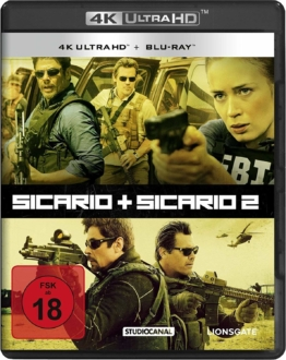 Sicario 1 + 2 auf UHD Blu-ray Disc im Ultra HD Keep Case