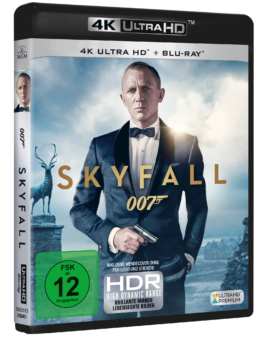 James Bond 007 - Skyfall 4K UHD Bluray Cover mit Daniel Craig