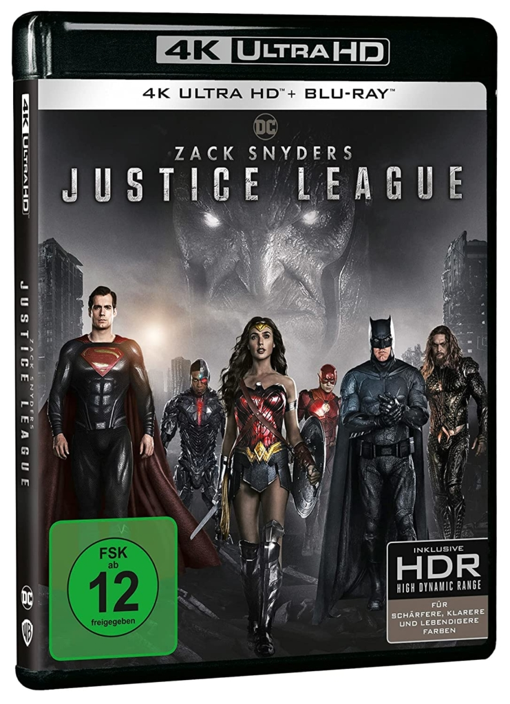 Snyder Cut 4K (The Justice League) UHD Blu-ray Disc Cover
