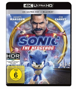 4K UHD Keep Case Cover (Frontansicht) zu Sonic the Hedgehog mit Jim Carrey