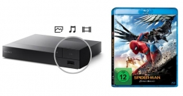 Sony BDP-S6700 Player mit Spider-Man Homecoming Blu-ray Disc
