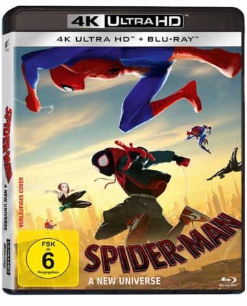 4K Blu-ray Cover Spider Man - A new universe