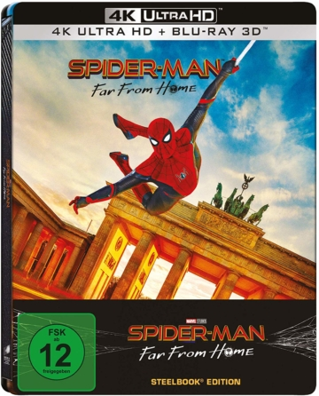 Spider-Man: Far From Home - 4K 3D Steelbook Cover