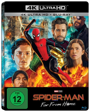 Spider-Man: Far From Home 4K UHD Blu-ray Disc Steelbook Cover