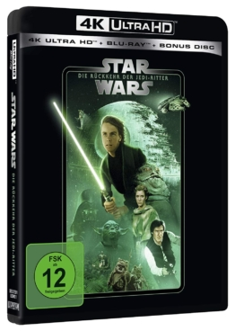 Star Wars - Episode VI - Die Rückkehr der Jedi-Ritter (4K UHD Blu-ray) (Line Look Edition) Cover mit Mark Hamil, Carrie Fisher und Harrison Ford